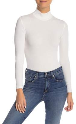 Elodie Ribbed Mock Neck Bodysuit