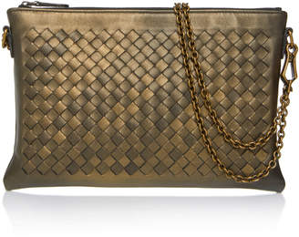 Bottega Veneta Chain Strap Leather Wallet Bag