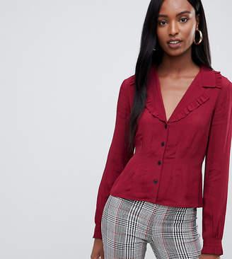 Asos Tall DESIGN Tall waisted tea blouse with collar detail