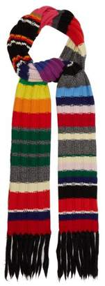 Burberry Rainbow Striped Cashmere Blend Scarf - Womens - Rainbow