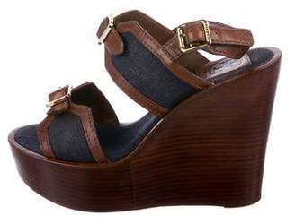 Tory Burch Dual-Strap Wedge Sandals