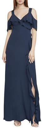 BCBGMAXAZRIA Evette Front Drape Dress
