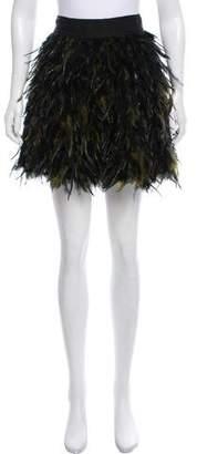 Alice + Olivia Cina Feather Mini Skirt w/ Tags