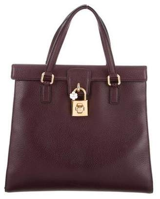 Dolce & Gabbana Grained Leather Satchel