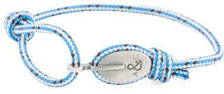 Made In Great Britain 925 Blue Dash London Rope Bracelet
