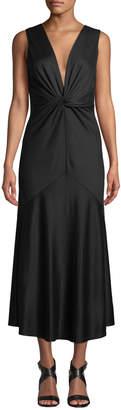 Diane von Furstenberg Baila Twist-Front Sleeveless Cocktail Dress