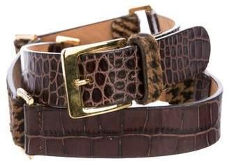 Etro Embellished Leather Link Belt