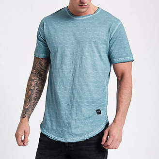 River Island Only and Sons blue slub T-shirt