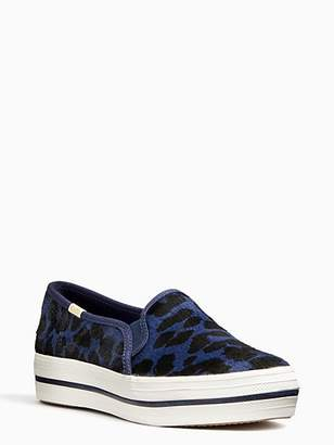 Kate Spade Keds x triple decker leopard sneakers