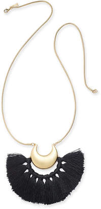 "INC International Concepts Trina Turk x I.n.c. Gold-Tone Tassel Crescent 32"" Pendant Necklace, Created for Macy's"