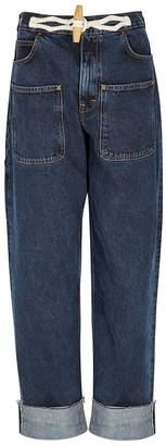 J.W.Anderson Dark Blue Straight-leg Jeans