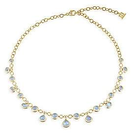 Temple St. Clair Women's Royal Blue Moonstone, Diamond & 18K Yellow Gold Half Bib Necklace