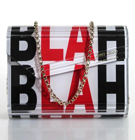 Jimmy ChooJimmy Choo Multicolored Blah Blah Blah Clutch Handbag New