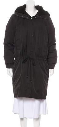 Acne Studios Hooded Knee-Length Coat Hooded Knee-Length Coat