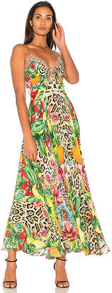 Camilla Tie Front Maxi Dress in Yellow $650 thestylecure.com