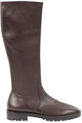 The Row Brown Leather Boots