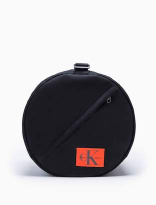 Calvin Klein monogram logo nylon drum bag