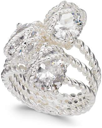 Charter Club Silver-Tone Three-Stone Wrap Ring
