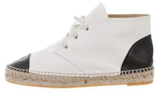 Chanel CC High-Top Espadrille Sneakers