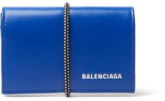 Balenciaga Elastic-Bound Leather Cardholder