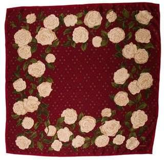 Chanel Silk Camellia Scarf