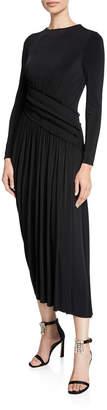 Jason Wu Long-Sleeve Fluid Jersey Evening Gown
