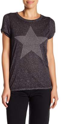 Andrew Marc Short Sleeve Embellished Knit Tee