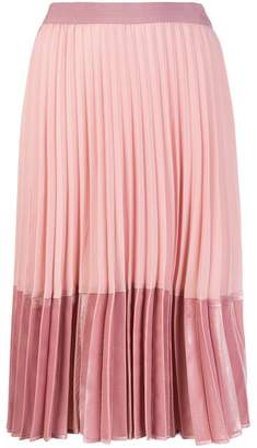 Pinko contrasting pleated skirt