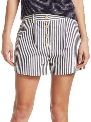 Derek Lam 10 Crosby Striped Cotton Shorts