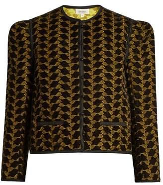 Isa Arfen - Embroidered Velvet Jacket - Womens - Gold Multi
