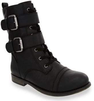 Sugar Jaci Women's Double-Strap Combat Boots