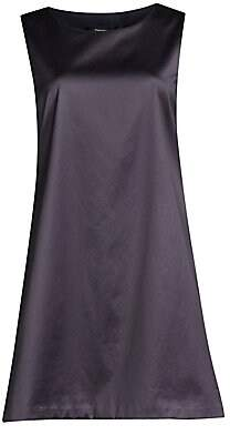 Theory Women's Easy Satin Sleeveless Shift Dress