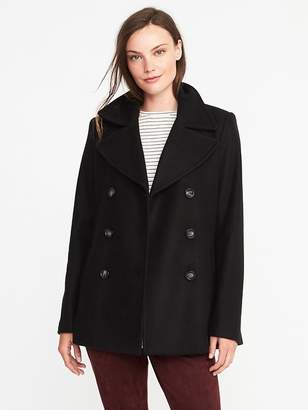 Old Navy Classic Wool-Blend Peacoat for Women