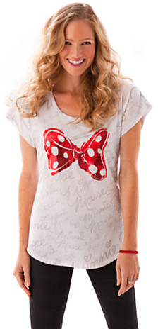 Disney Minnie Mouse Bow Tee for Women