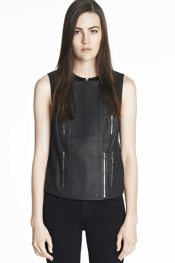J Brand Renee Leather Vest