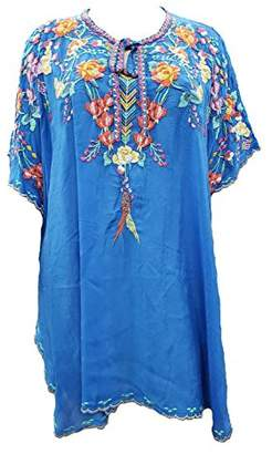 Johnny Was Women's Rayon Multicolor Embroidered Poncho