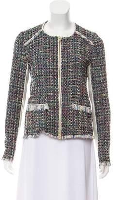Ramy Brook Tweed Leather-Trimmed Jacket