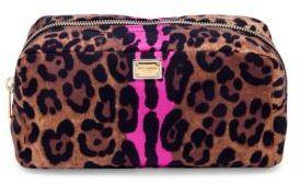 Dolce & GabbanaDolce & Gabbana Necessaire Leopard-Print Nylon Cosmetic Case