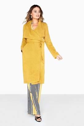 Girls On Film Yellow Trench Coat