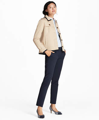 Brooks Brothers Water-Repellent Twill Cropped Swing Jacket