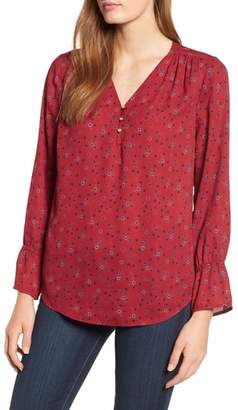Chaus Bell Cuff Georgette Blouse