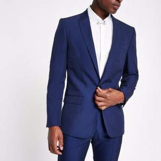 River Island Bright blue slim fit suit jacket