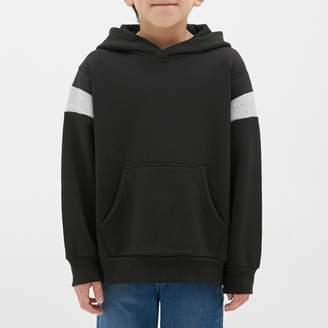GU (ジーユー) - (GU)裏起毛カラーブロックスウェットプルパーカ(長袖) BLACK 110