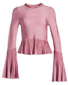 Jonathan Simkhai Metallic Pleated Top