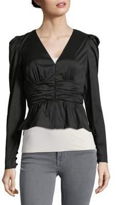 Tracy Reese Cummerbund V-Neck Jacket