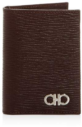 Salvatore Ferragamo Embossed Leather Bi-Fold Card Case