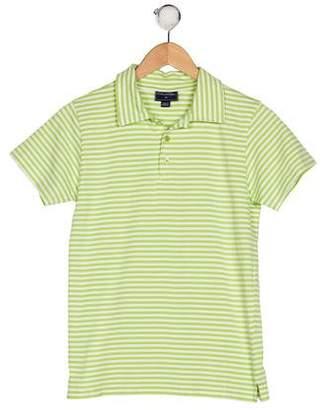 Oscar de la Renta Boys' Striped Short Sleeve Shirt