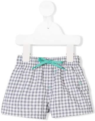 Tartine et Chocolat drawstring check swim shorts