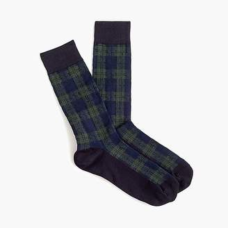 J.Crew Black Watch tartan socks