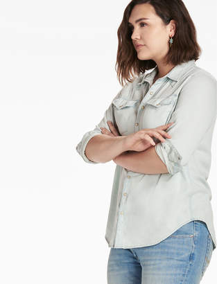 Lucky Brand Plus Size Western Shirt In Sherman